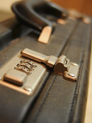 Briefcase with combination lock